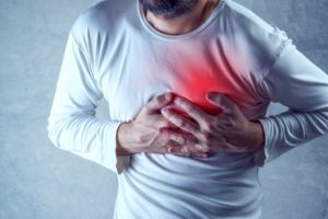a man having chest pain